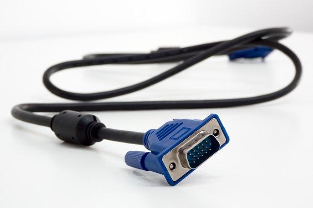 Photo d'un câble VGA