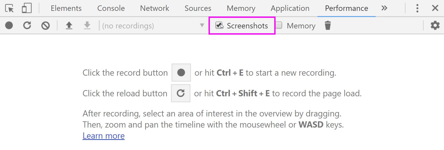 Une image montrant comment accéder à Screenshots