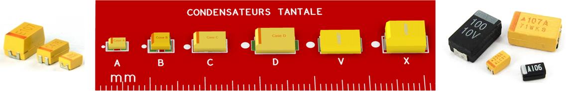 Packages de condensateurs tantale