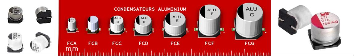 Packages de condensateurs électrolytiques aluminium