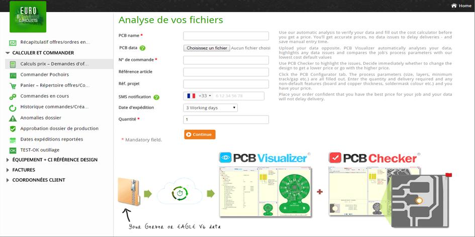 Interface pour visualiser et analyser le contenu des fichiers Gerber.
