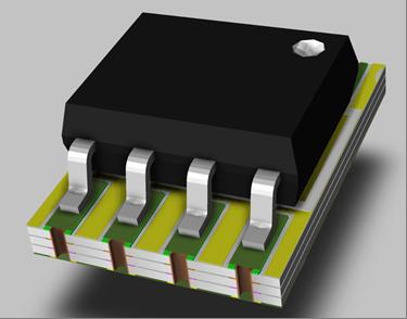 PCB secondaire en forme de patch adaptateur.