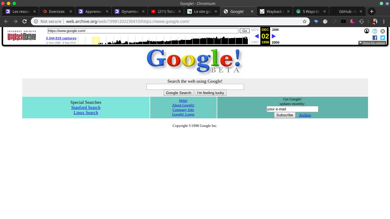 version 1 de google