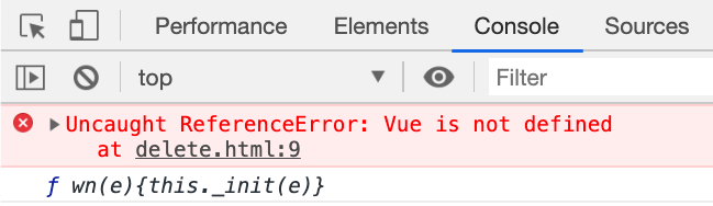 In the JavaScript console