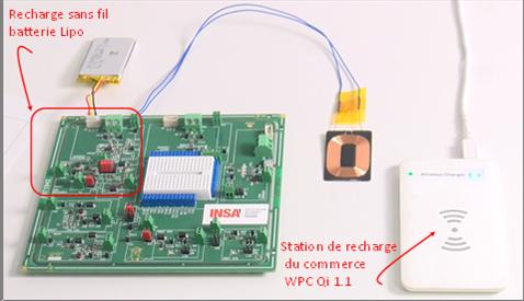 Carte électronique intégrant la technologie de recharge sans fil WPC Qi
