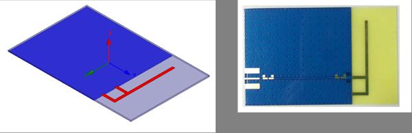 Antenne sur PCB de type IFA 2.4GHz: https://www.nxp.com/docs/en/user-guide/UM10992.pdf