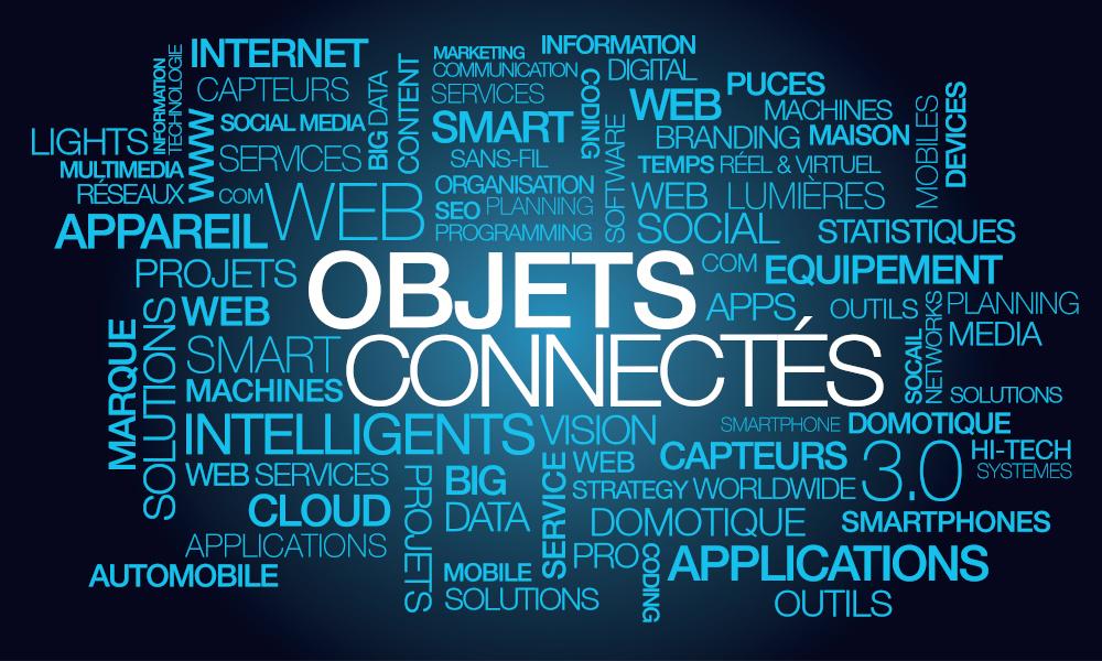 Illustration des utilisations possibles des objets connectés dans notre environnement