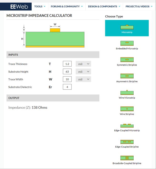 Exemple de logiciel de calcul de microstrip line : https://www.eeweb.com/tools/microstrip-impedance