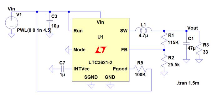 Schéma d'application du LTC3621