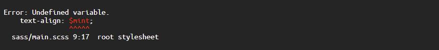 Image illustrant une erreur dans le code