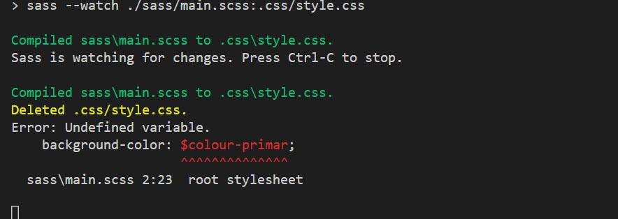 Illustration d'une erreur dans le code