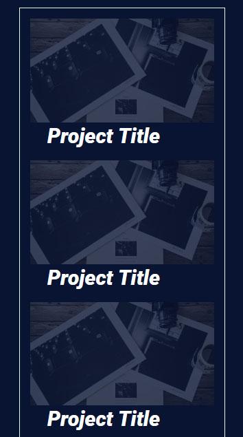 Image de la version mobile améliorée du portfolio