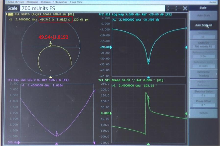 Avec la présence du 2nd condensateur (shunt) l'antenne est à présenté adaptée