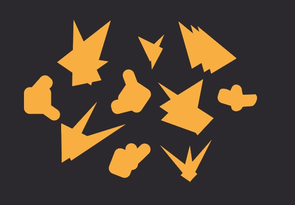 Image of shapes that are not recognizable. We are told that some are called Twipis and some are called Pondles