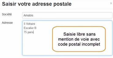 Exemple du traitement de l'adresse par un logiciel de RNVP