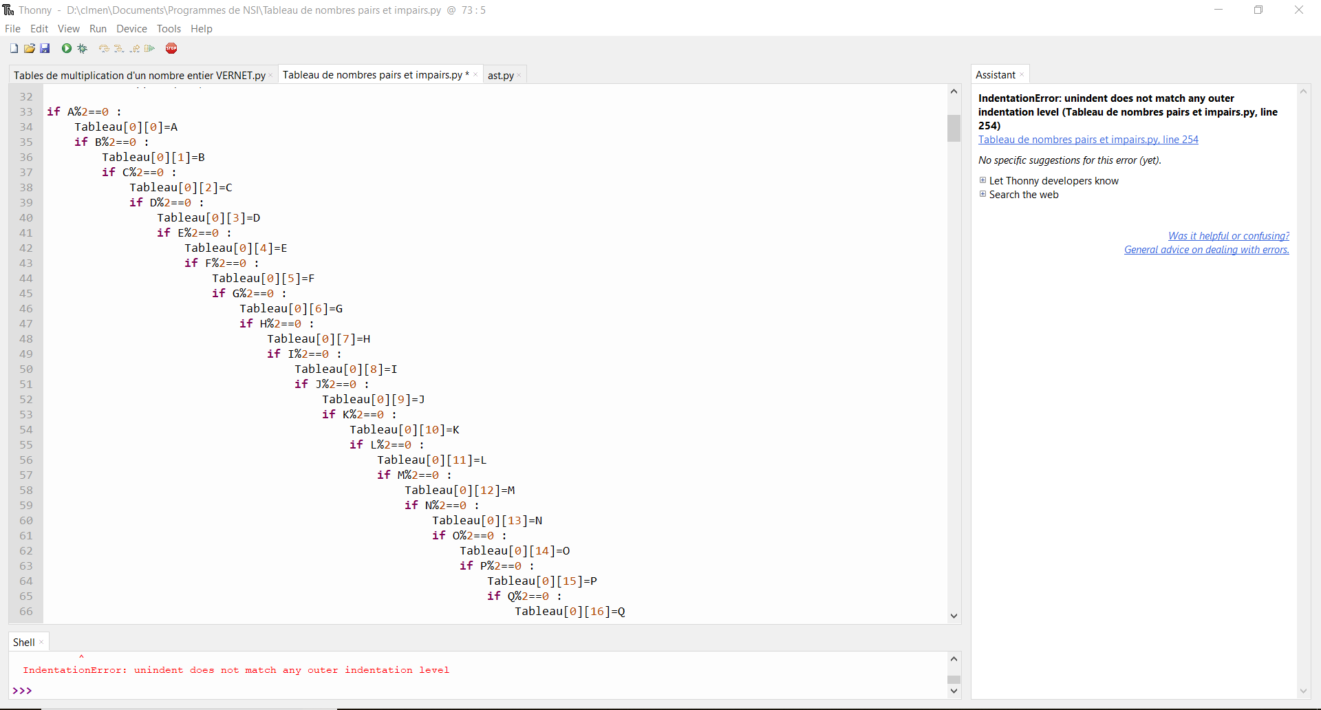 Résolu Python : Trier dans un tableau des nombres - 20 nombres aléatoirement générés, triés ...