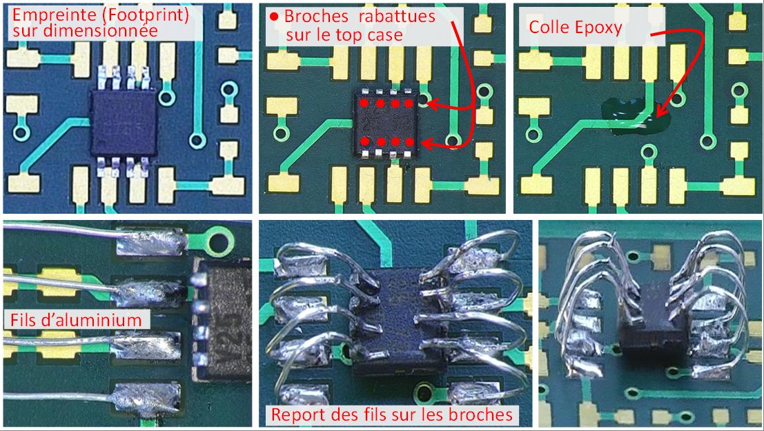 Adaptation d'un package TSSOP sur un footprint SOIC.