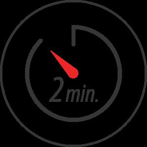 Chronomètre avec 2 minutes affiché dessus