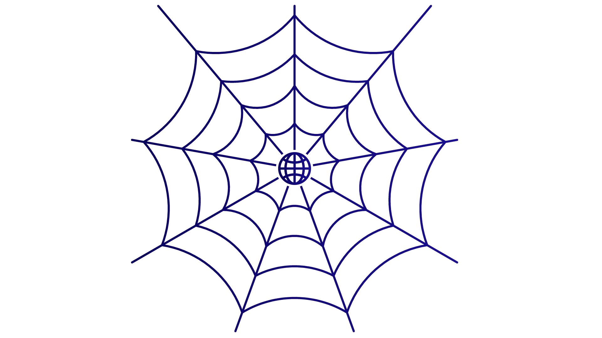 Toile d'araignée représentant le web