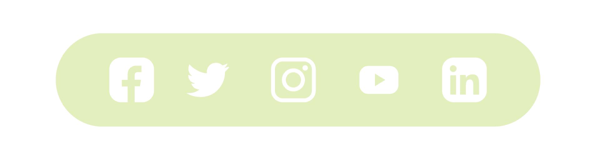 Icônes des médias sociaux et menu blanc sur orange clair avec un très faible contraste.