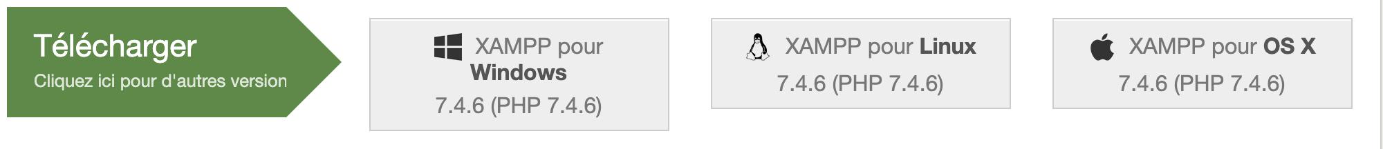 Téléchargement de XAMPP pour Linux