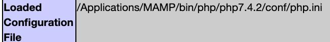 Chemin du fichier de configuration de PHP chargé par le serveur web