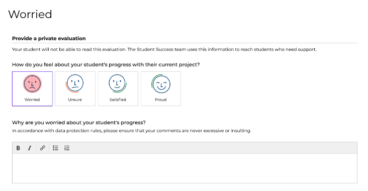 An alert is then sent to our Student Success team