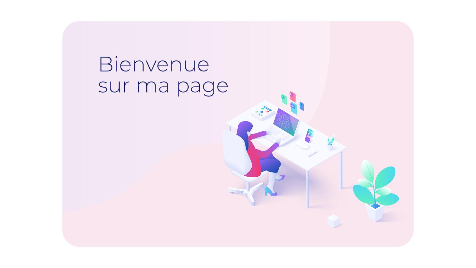 Capture d'écran d'une page web qui utilise des couleurs pastel. Le texte est bleu marine sur rose et les couleurs n'impactent pas négativement la lisibilité du contenu.