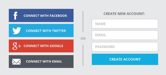 Exemple de site qui proposer de se connecter avec Facebook