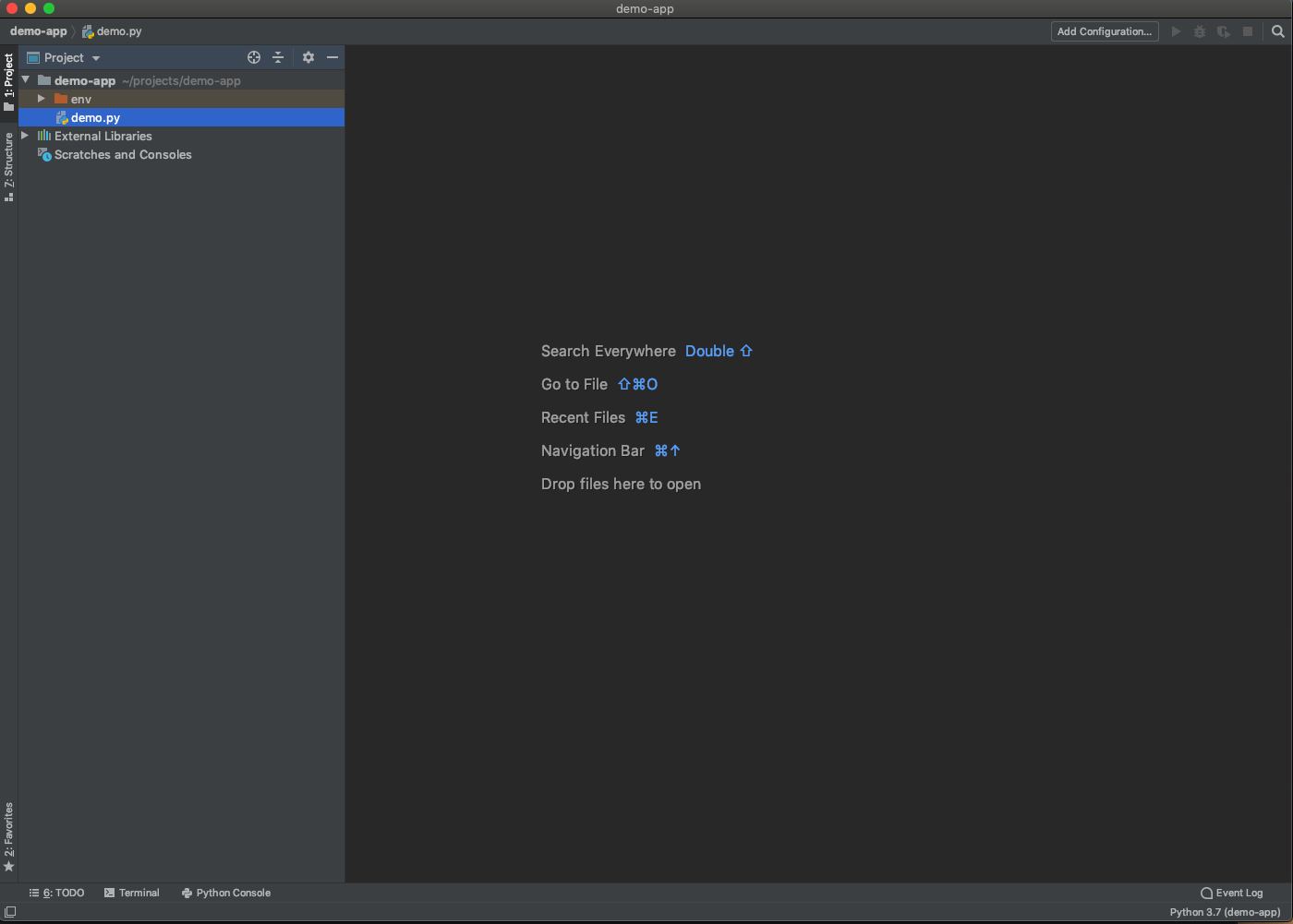 PyCharm in the Applications folder.