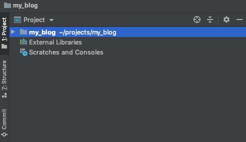 PyCharm project tree.