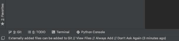 PyCharm with a 'git' option.