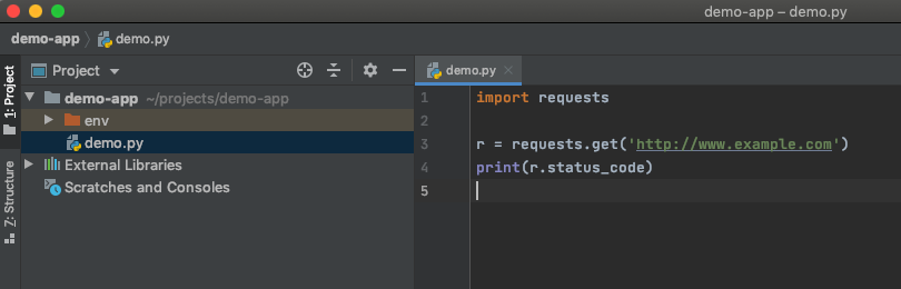 Opening a file with PyCharm