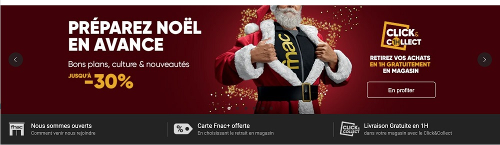 Contenu marketing de promotion pour Noël