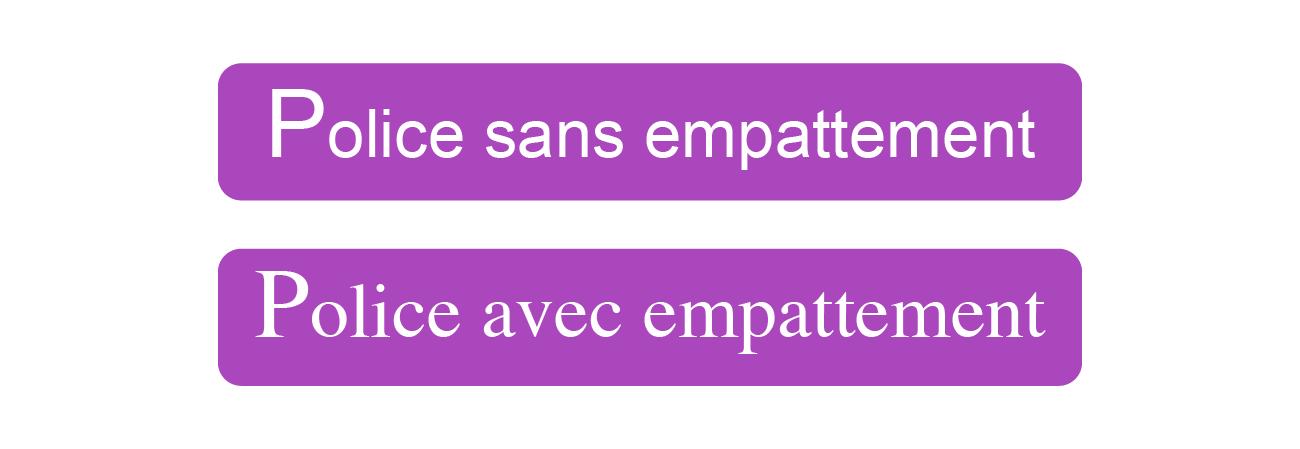 polices de caractères sans et avec empattements