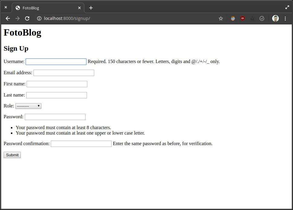Create custom validators