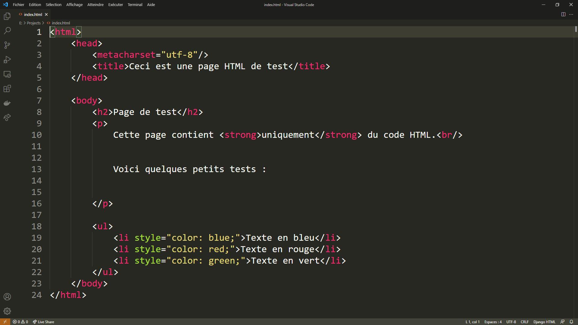 L'éditeur de code Visual Studio Code