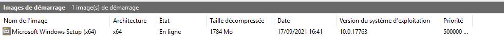 Image de démarrage  à partir d'un média Windows Server 2019